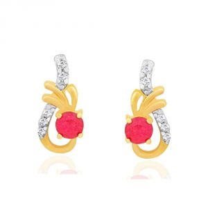 Sangini Yellow Gold Diamond Earrings Kie00041si-jk18y