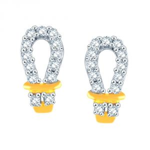 La Intimo,Shonaya,Diya,Gili Women's Clothing - Gili Yellow Gold Diamond Earrings PE12960SI-JK18Y