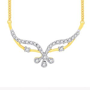 Asmi,Sukkhi,Sangini,Lime,Sleeping Story,Gili Diamond Jewellery - Asmi Yellow Gold Diamond Tanmaniya FPM487SI-JK18Y