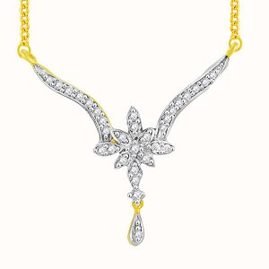Rcpc,Kalazone,Sangini Women's Clothing - Sangini Yellow Gold Diamond Tanmaniya FP438SI-JK18Y