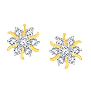 Shuddhi Yellow Gold Diamond Earrings Nera172dsi-jk18y