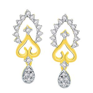 Shuddhi Yellow Gold Diamond Earrings Pra2e3454si-jk18y