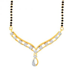Gili Yellow Gold Diamond Mangalsutra Fp444si-jk18y