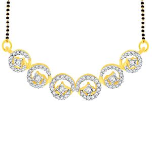 Gili Yellow Gold Diamond Mangalsutra Aam164si-jk18y