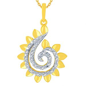Triveni,My Pac,Clovia,Arpera,Gili Women's Clothing - Gili Yellow Gold Diamond Pendant BAP575SI-JK18Y