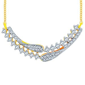 Triveni,Sangini,Gili,Sukkhi,Estoss Women's Clothing - Sangini Yellow Gold Diamond Tanmaniya FP363SI-JK18Y