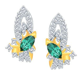 Parineeta Yellow Gold Diamond Earrings Pe18658si-jk18y