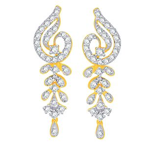Vipul,Port,Fasense,Triveni,The Jewelbox,Gili,Tng Women's Clothing - Gili Yellow Gold Diamond Earrings YDE00313SI-JK18Y