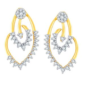Pick Pocket,Gili,Valentine,Sinina Women's Clothing - Gili Yellow Gold Diamond Earrings HIE00175SI-JK18Y