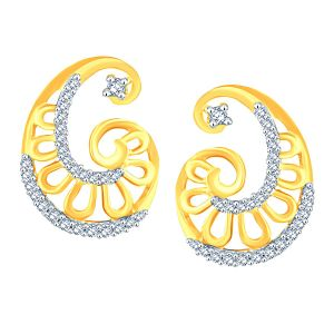 Asmi,Sukkhi,Triveni,Mahi,Gili,Jpearls,Surat Tex Diamond Jewellery - Gili Yellow Gold Diamond Earrings BAEP618SI-JK18Y