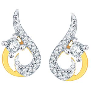 Hoop,Kiara,Oviya,Gili,Fasense,Jagdamba Women's Clothing - Gili Yellow Gold Diamond Earrings ADE00868SI-JK18Y