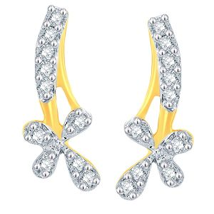 Asmi,Sukkhi,The Jewelbox Women's Clothing - Asmi Yellow Gold Diamond Earrings ADE01266SI-JK18Y