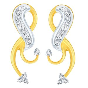 Asmi,Sukkhi,The Jewelbox Women's Clothing - Asmi Yellow Gold Diamond Earrings ADE00322SI-JK18Y