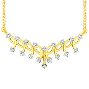 Asmi,Sukkhi,Clovia,Ag Diamond Jewellery - Asmi Yellow Gold Diamond Tanmaniya DDN00113SI-JK18Y
