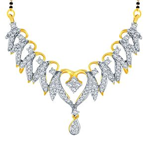 Asmi Yellow Gold Diamond Mangalsutra Opk801si-jk18y