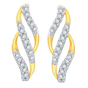 Asmi,Jpearls,Gili Women's Clothing - Asmi Yellow Gold Diamond Earrings ADE01252SI-JK18Y