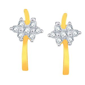 Lime,Sangini Women's Clothing - Sangini Yellow Gold Diamond Earrings DDE15563SI-JK18Y