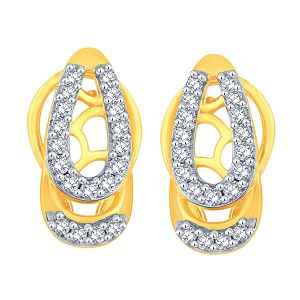 Sangini,Lime Women's Clothing - Sangini Yellow Gold Diamond Earrings PE11391SI-JK18Y