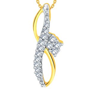 Shuddhi Yellow Gold Diamond Pendant Adp00681si-jk18y