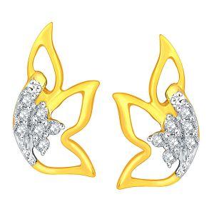 Shuddhi Yellow Gold Diamond Earrings Ade00927si-jk18y