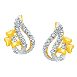 Shuddhi Yellow Gold Diamond Earrings Ade01429si-jk18y