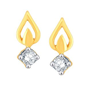 Asmi Women's Clothing - Asmi Yellow Gold Diamond Earrings IDE00055SI-JK18Y