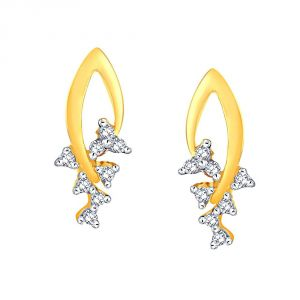Hoop,Asmi,Kalazone,Tng Women's Clothing - Asmi Yellow Gold Diamond Earrings LE2331SI-JK18Y