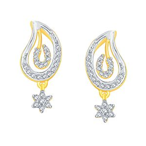 Maya Diamond Yellow Gold Diamond Earrings Nera287si-jk18y