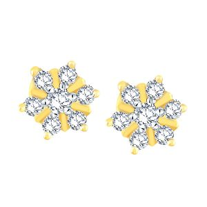 Nakshatra Yellow Gold Diamond Earrings Nnper056si-jk18y