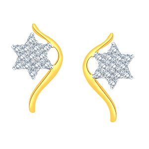 Maya Diamond Yellow Gold Diamond Earrings Pe17980si-jk18y