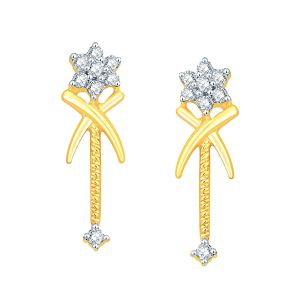 Asmi,Sukkhi,The Jewelbox,Parineeta,Clovia Women's Clothing - Asmi Yellow Gold Diamond Earrings PRA1E3262SI-JK18Y