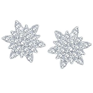 Asmi,Platinum,Ivy,Unimod,Clovia,Cloe,Sangini Women's Clothing - Sangini Yellow Gold Diamond Earrings DDE00716SI-JK18Y