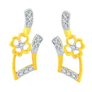 Triveni,Jagdamba,Asmi,Kalazone Women's Clothing - Asmi Yellow Gold Diamond Earrings PE11254SI-JK18Y