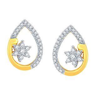 Asmi,Sukkhi,Triveni,Surat Tex,See More Women's Clothing - Asmi Yellow Gold Diamond Earrings PE20277SI-JK18Y