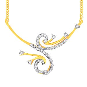 Hoop,Asmi,Kalazone Women's Clothing - Asmi Yellow Gold Diamond Tanmaniya YP322SI-JK18Y