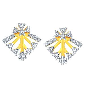 Asmi,Sukkhi,Lime,Hoop Women's Clothing - Asmi Yellow Gold Diamond Earrings AAEP509SI-JK18Y