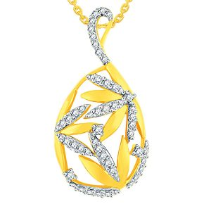 Asmi,Platinum,Ivy,Unimod,Hoop Women's Clothing - Asmi Yellow Gold Diamond Pendant AAP117SI-JK18Y