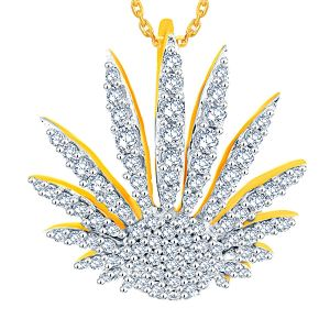 Asmi Yellow Gold Diamond Pendant Aap497si-jk18y