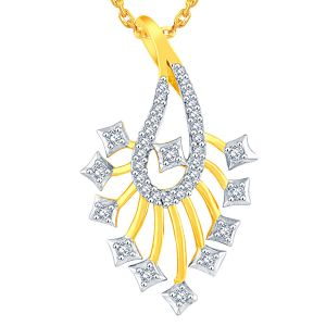 Asmi Yellow Gold Diamond Pendant Aap656si-jk18y