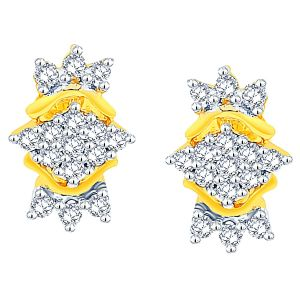 Shuddhi Yellow Gold Diamond Earrings Ade01198si-jk18y