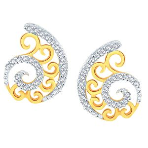 Hoop,Shonaya,Parineeta,Gili Women's Clothing - Gili Yellow Gold Diamond Earrings BAEP594SI-JK18Y