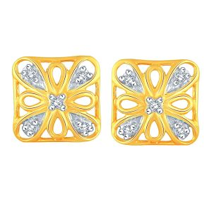Triveni,My Pac,Sangini,Gili,Mahi,Estoss Women's Clothing - Gili Yellow Gold Diamond Earrings BAEP714SI-JK18Y