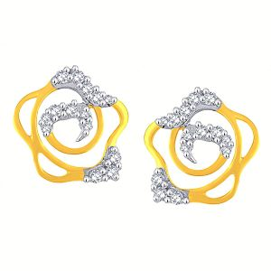 Triveni,Tng,Bagforever,La Intimo,Surat Tex,Gili,Flora,Fasense Women's Clothing - Gili Yellow Gold Diamond Earrings BAEP690SI-JK18Y