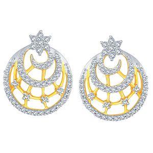 Diamond Earrings - Nakshatra Yellow Gold Diamond Earrings BAEP732SI-JK18Y
