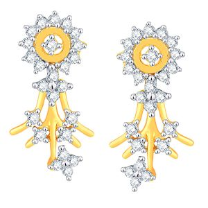 Sangini Yellow Gold Diamond Earrings Dde01924si-jk18y