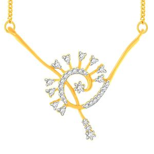 Hoop,Shonaya,Arpera,Tng,Sangini Diamond Jewellery - Sangini Yellow Gold Diamond Tanmaniya YP315SI-JK18Y