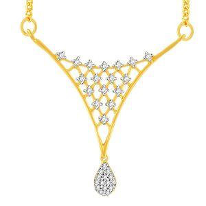 Triveni,Pick Pocket,Shonaya,Jpearls,Sangini Diamond Jewellery - Sangini Yellow Gold Diamond Tanmaniya YP325SI-JK18Y