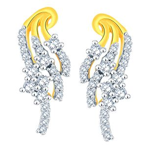 La Intimo,Shonaya,Sangini Diamond Jewellery - Sangini Yellow Gold Diamond Earrings AAET153SI-JK18Y