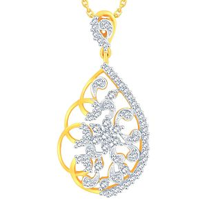 Sukkhi,Sangini,Lime Women's Clothing - Sangini Yellow Gold Diamond Pendant AAP064SI-JK18Y