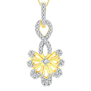 Gili Yellow Gold Diamond Pendant Aap417si-jk18y